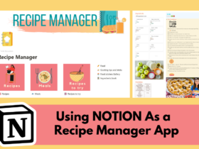 a screenshot of a Notion recipe template