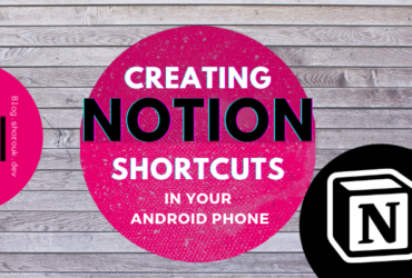 Add a shortcut to Notion page on Android home screen