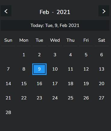 a picture of a calendar - dark