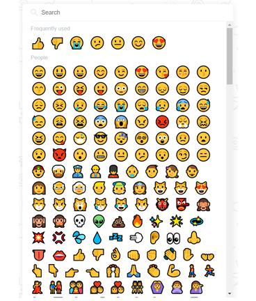 a picture of emoji selectors