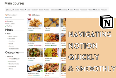 How to create notion sidebar and top navigation bar