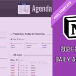 Notion Daily Agenda 2022
